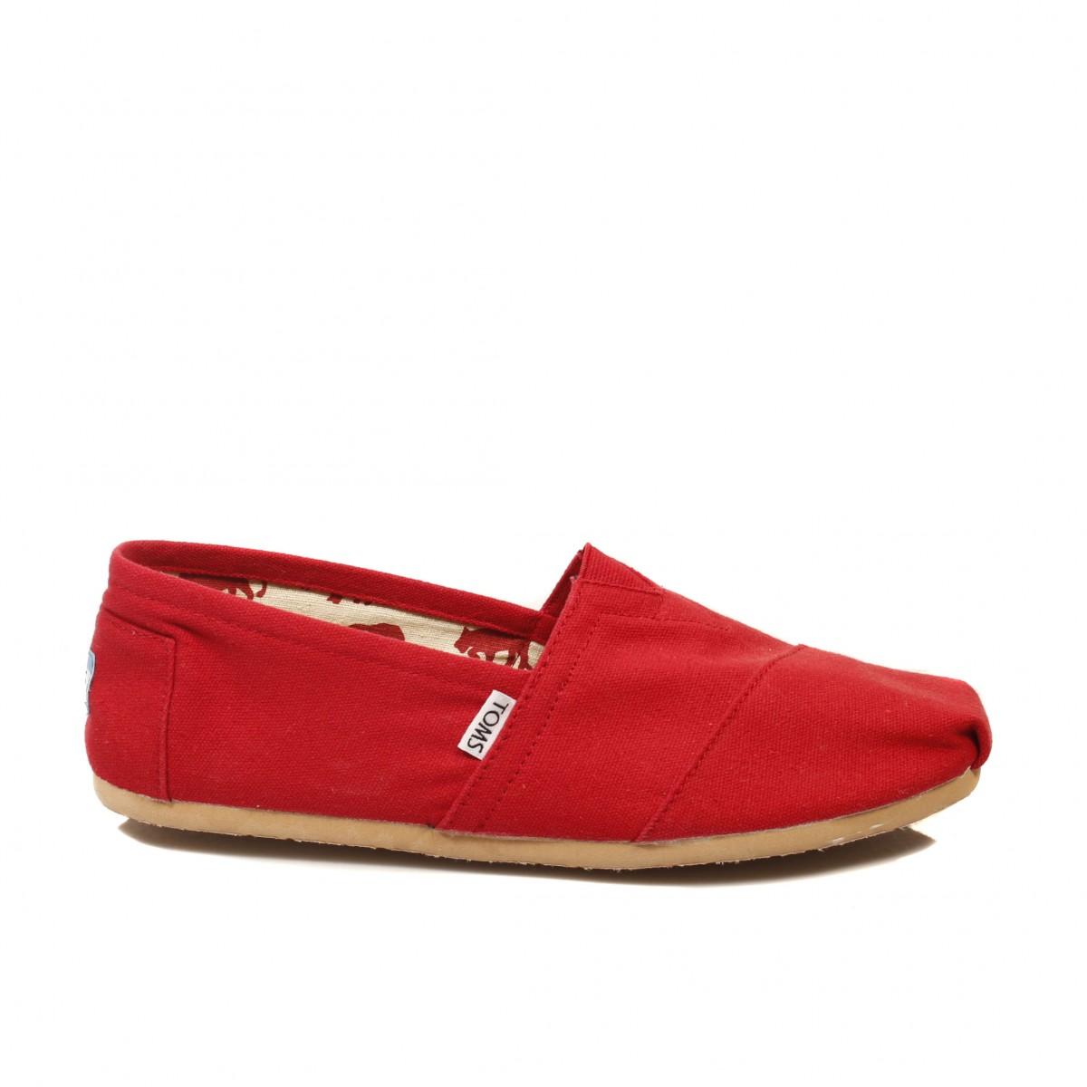 TOMS MAN RED CLASSICS CANVAS