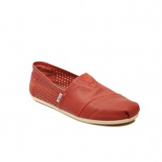 TOMS MAN RED PERFORATED LEATHER